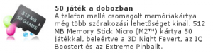 Sony Ericsson F305 + 50 játék