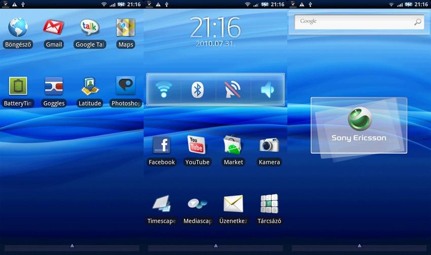 Kezdőképernyő