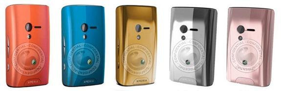Sony Ericsson Xperia X10 Mini - új hátlapok