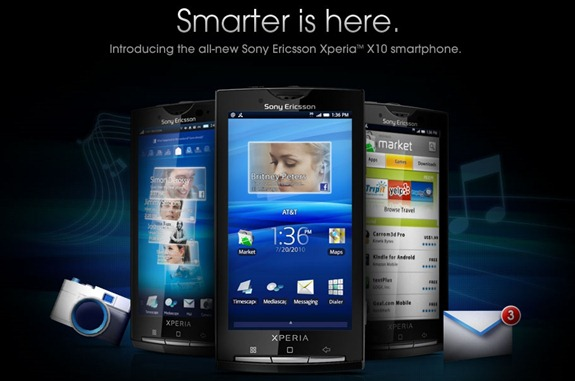 Sony Ericsson Xperia X10 - Smarter is here