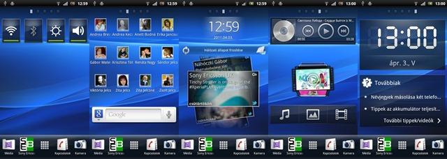 Xperia arc - Home screen