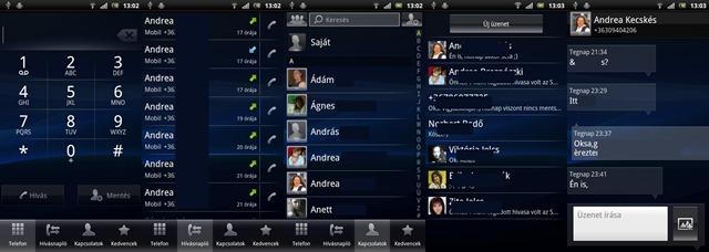 Xperia arc - Telefon & üzenetek