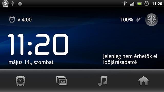 Xperia neo screen - time