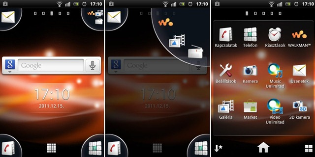 Sony Ericsson Live with Walkman Screen 01