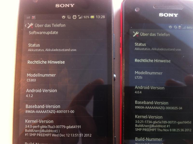 Sony Xperia SP és Xperia V
