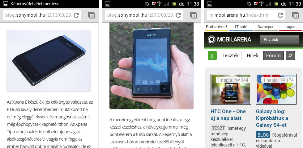 Xperia E Chrome