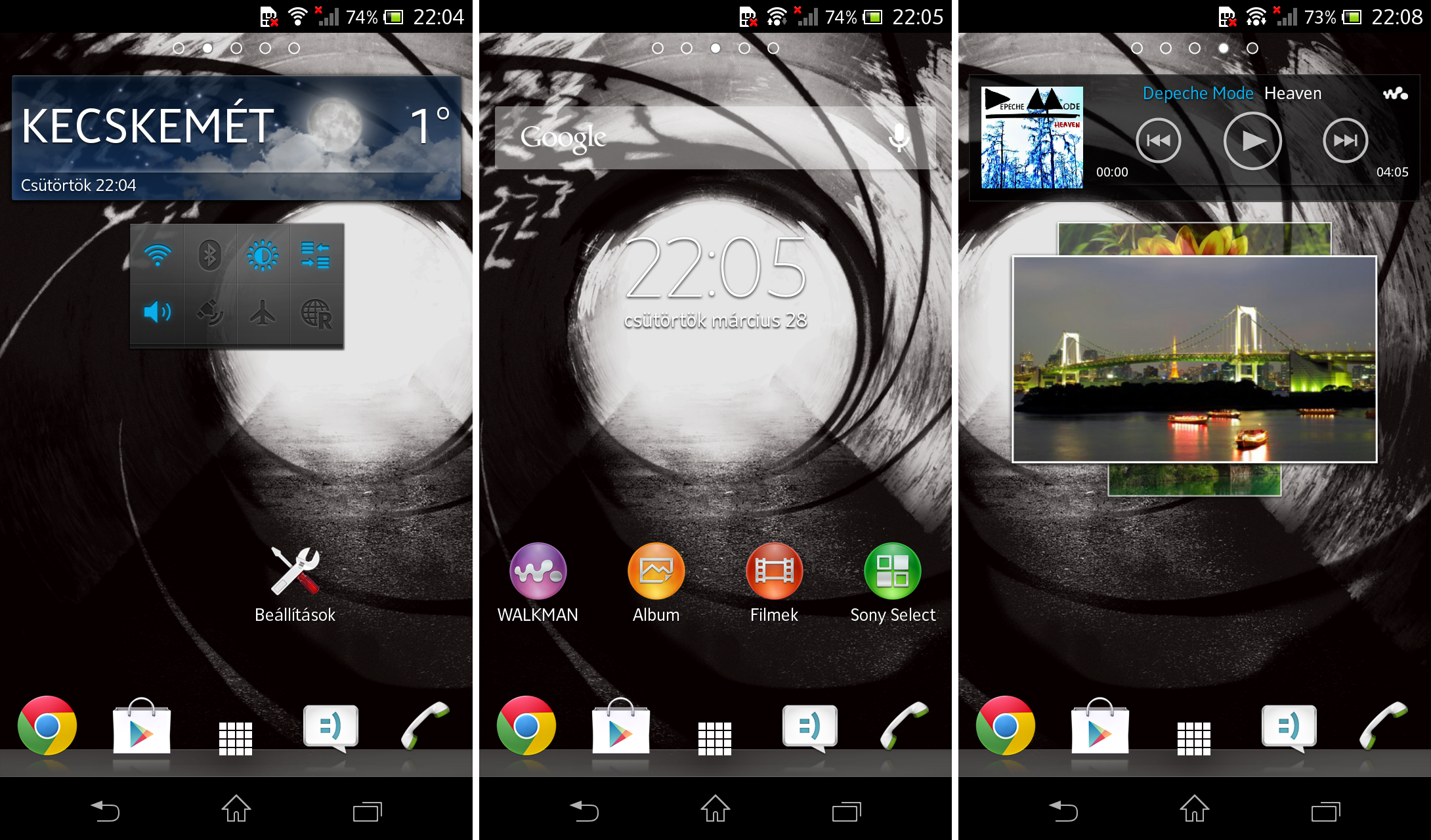 Xperia T homescreen