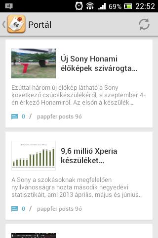 Már Sony Xperia Blogunk is böngészhető a Tapatalkon