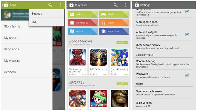 2ab4fc333f Az új Play Áruház kisebb felhasználói felület változtatásokon ment  keresztül, valamint megújult a navigáció is.