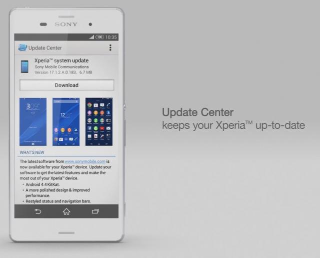 Xperia Z3 Update Center