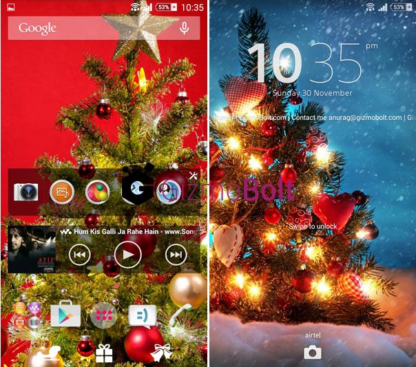 Xperia-Christmas-Theme